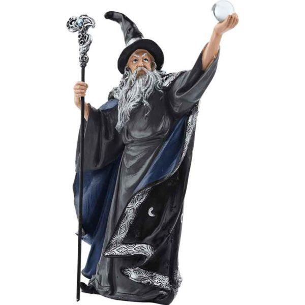 Dark Wizard and Dragon Statue