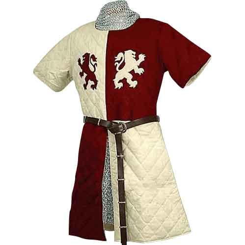 Heraldic Lions Quilted Surcoat