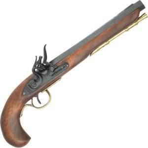 18th C. Black Kentucky Flintlock Pistol