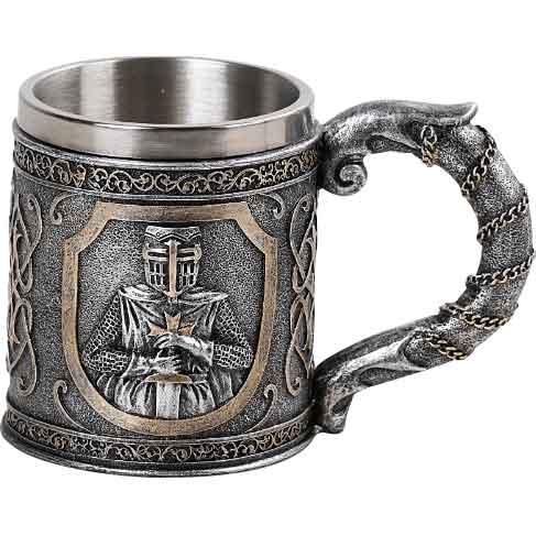 Metallic Templar Knight Mug