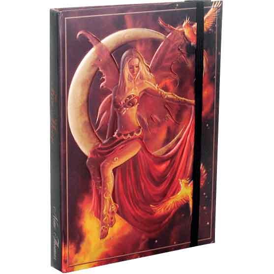 Embossed Fire Moon Fairy Journal