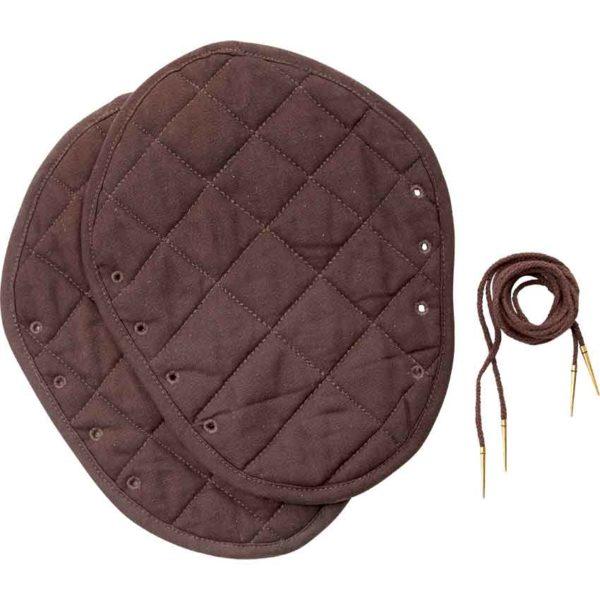 Medieval Padded Bracers - Brown