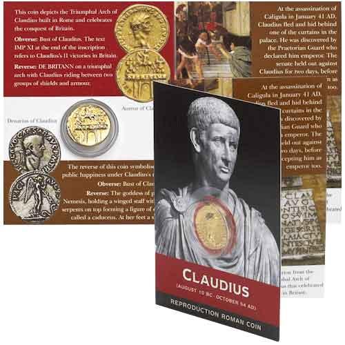 Aureus Of Claudius Replica Coin Pack