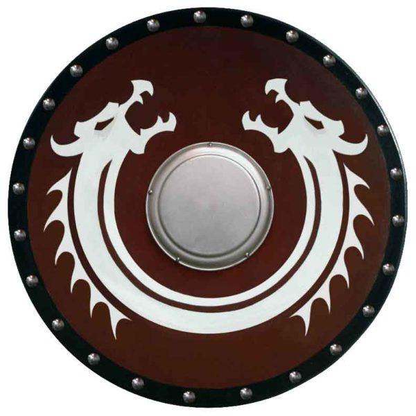Round Viking Dragon Shield with Boss