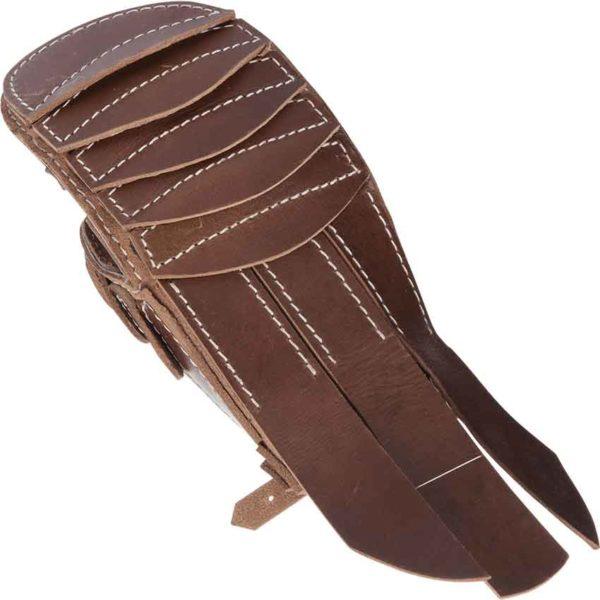Brown Leather Gladiator Gauntlet