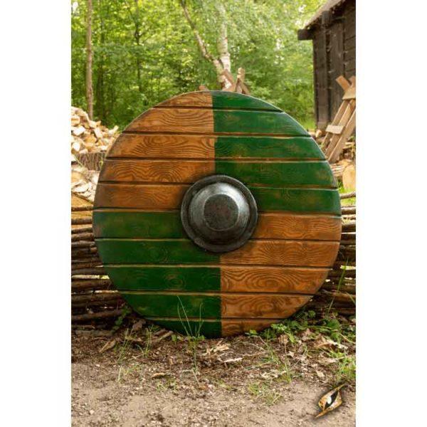 Drang LARP Shield - Green and Wood