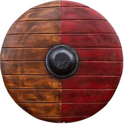 Drang LARP Shield - Red and Wood