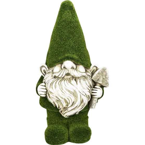 Green Garden Gnome Statue