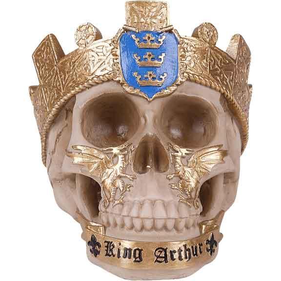 King Arthur Skull Statue