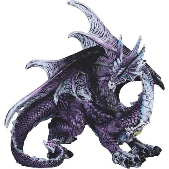 Bejeweled Purple Dragon Figurine