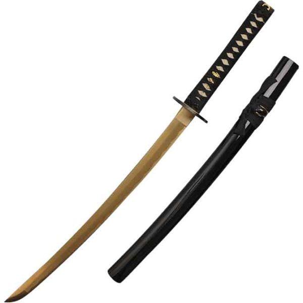 Golden Blade Samurai Wakizashi