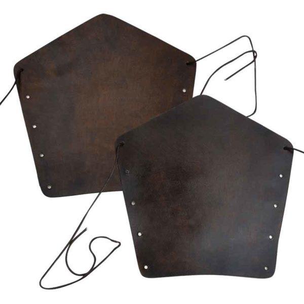 Medieval Leather Arm Bracers