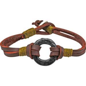 Questers Leather Medieval Bracelet