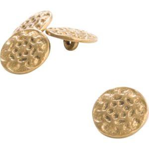 Set of 10 Hammered Brass Buttons